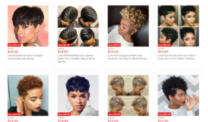 luna wigs products
